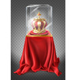royal crown in showcase museum exhibit vector image vector image