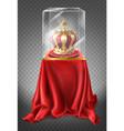 royal crown in showcase museum exhibit vector image