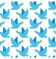seamless pattern with doves of peace vector image vector image