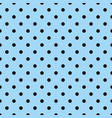 seamless pattern with tile black polka dots vector image vector image