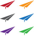 Set of colorful paper planes