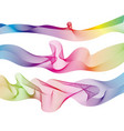 set rainbow waves lines gradient colorful vector image