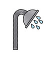 shower tap isolated icon vector image vector image