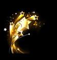 soaring gold stars vector image vector image