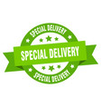 special delivery ribbon special delivery round vector image vector image