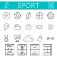 Sport outline icons trendy thin line design vector image