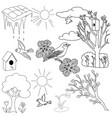 spring items set vector image