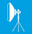 studio lighting equipment icon white vector image vector image