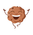 sweets of smiling chocolate biscuit vector image