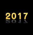 The 2017 gold vector image vector image