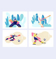 various kind sport set games and players vector image