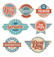 Vintage retro label banner design set vector image