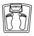weight balance bathroom icon vector image vector image