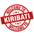 welcome to kiribati red stamp vector image vector image