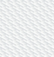 White diagonal embossed abstract seamless pattern vector image vector image