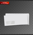 white envelopes isolated on transparent vector image vector image