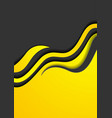 yellow black abstract corporate waves flyer design vector image vector image