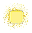 Yellow Confetti Banner vector image vector image