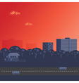 Sunset over City vector image