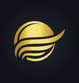 sunset beach water abstract icon gold logo vector image