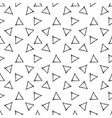 seamless pattern with hand drawn triangles vector image
