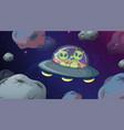 alien in ufo space scene