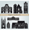 Angers landmarks and monuments vector image vector image