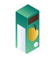 apple juice package icon isometric style vector image