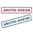Arctic Ocean Rubber Stamps vector image vector image