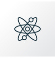 atomic energy icon line symbol premium quality vector image
