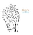 bear selfie many bears do self photo vector image vector image