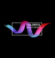 black background with colorful abstract brush vector image vector image