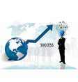 Bulb headed man standing in abstract business vector image