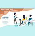 business analysis service flat web banner vector image vector image