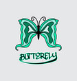 butterfly beauty business logo vector image vector image