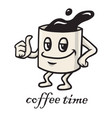Coffee cartoon character design doodle drawing