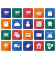 collection of rounded square icons finance and vector image vector image