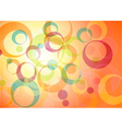 Colorful circle background vector image vector image