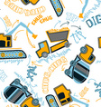 Construction vehicles pattern vector image vector image