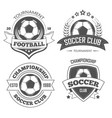 football and soccer isolated icons championship vector image vector image