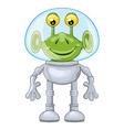 funny cartoon alien in spacesuit