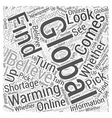 Global Warming Do You Believe Word Cloud Concept vector image vector image