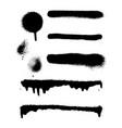 graffiti spray banner set spray paint vector image vector image