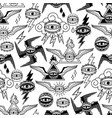 graphic collection all-seeing eyes vector image