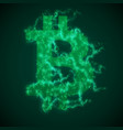 green bitcoin symbol constructed with vector image vector image
