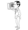 guglielmo marconi caricature vector image vector image