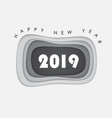 happy new year 2019 background for vector image
