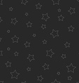 hipster seamless pattern thin line star graphic vector image vector image
