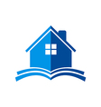 house construction book logo vector image vector image