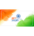 indian flag concept background for republic day vector image